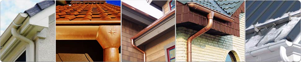Photos of half round copper gutters