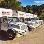 Jay Kay Gutter Supply delivery trucks